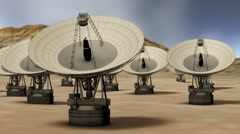 Satellite Dish in the Desert Time Lapse - stock footage