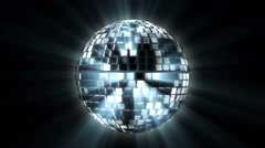 Disco ball Spinning on Isolated Background Stock Footage