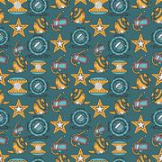 Scuba diving colored background Piirros