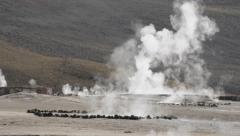 El Tatio Geysers valley in San Pedro de Atacama, Chile. - stock footage