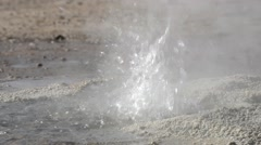 Bubbling geyser at the El Tatio Geyser valley in San Pedro de Atacama, Chile. Stock Footage