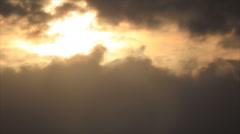 Sunlight spot on sky Stock Footage