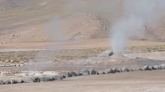 El Tatio Geysers valley in San Pedro de Atacama, Chile. Stock Footage