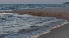 Sand spit on the water Stock Footage