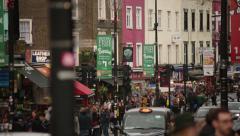 Camden high street shops (London) Stock Footage