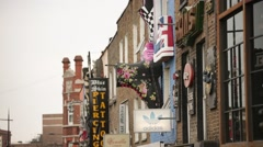 Camden high street shops Stock Footage