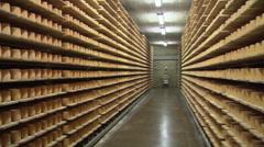 SWITZERLAND swiss cheese storage 7 Stock Footage