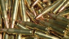 223 bullets pan across right to left Stock Footage