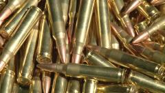 223 bullets pan across left to right Stock Footage