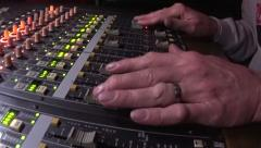 Hands on mixing audio for rock show1 Stock Footage
