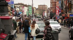 Camden high street crowd Stock Footage