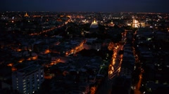 Banglamphu in the evening from above,Bangkok,Thailand Stock Footage