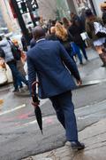 Wall street businessman, New York, USA. Stock Photos