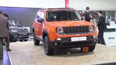 Jeep Renegade Belgrade Car Show 2 - stock footage