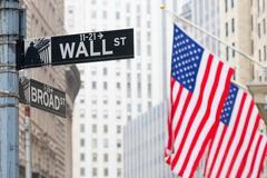 Wall street, New York, USA. Kuvituskuvat