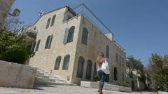 Mishkenot Sha'ananim neighborhood in Jerusalem ,Israel Stock Footage