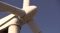 Closeup of wind turbine hub Stock Footage