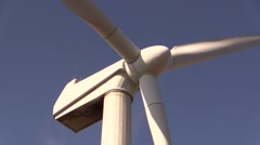 Close-up of wind turbine Stock Footage