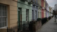 Camden houses Stock Footage
