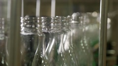 bottle production line 4K - stock footage