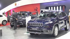 Jeep Cherokee on Belgrade Car Show - stock footage