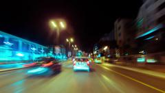 4K Athens city drive pov night timelapse/hyperlapse - stock footage