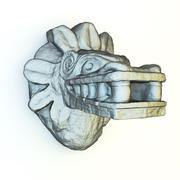 Mayan Sculpture - stock illustration