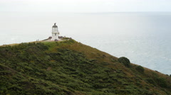 Pan from the Lighthouse at Cape Reinga New Zealand Stock Footage