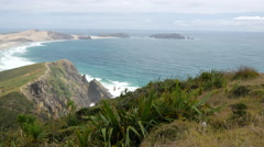 Pan from Cape Reinga New Zealand - stock footage