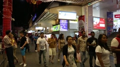 Lucky Plaza is a shopping centre located at Orchard Road Stock Footage
