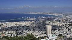 Time lapse of Haifa, Israel Stock Footage