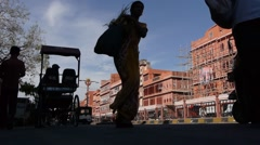 Traffic on the streets,Jaipur,Rajasthan,India Stock Footage