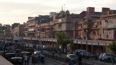 Busy street,Jaipur,Rajasthan,India Stock Footage