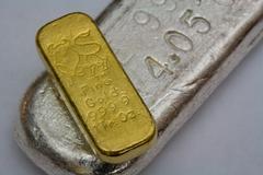 Gold and Silver Bullion Bars - stock photo