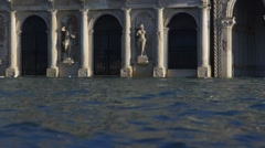Flooded architecture Venice Grand Canal Stock Footage