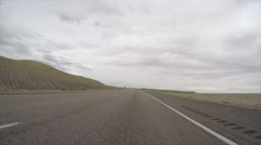 Stock Video Footage of A pov timelpase of driving a car through a Utah desert