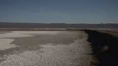 Dry Salt Lake Bed in California Stock Footage