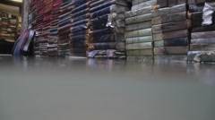Flooded books lie outside Stock Footage