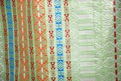 Indonesia woven silk sarong Stock Photos