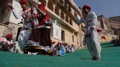 Dance Festival fort,Bundi,Rajasthan,India Stock Footage