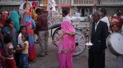 Wedding Celebration,Jaipur,Rajasthan,India Stock Footage