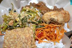 Indonesian rice mix - stock photo