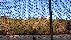 Fence Lines Laguna Niguel City Park California Stock Footage