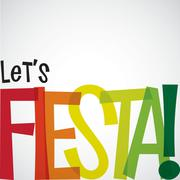 Bright typographic Fiesta card in vector format. Stock Illustration