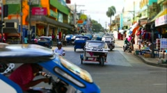 Traffic in Puerto Princesa, Philippines, timelapse Stock Footage