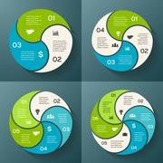 Vector circle infographic. Template for cycle diagram, graph, presentation and Stock Illustration