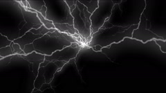 Abstract thunderstorm lightning background,nature electricity energy. Stock Footage