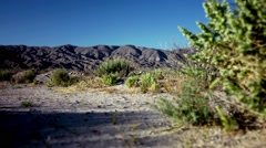 California Desert Terrain Near Mountains Stock Footage
