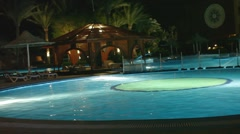 Area hotel Egypt night Stock Footage