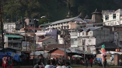 Park in town,Champa,Himachal Pradesh,India Stock Footage